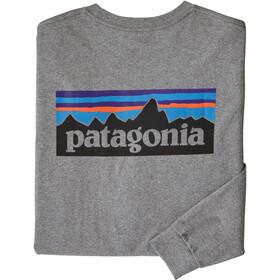 Patagonia P-6 Logo Maglietta a maniche lunghe Uomo, grigio